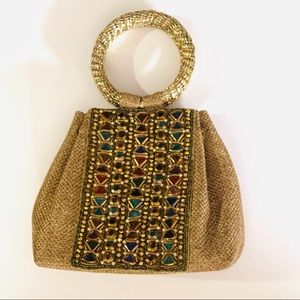 Handbags - Vintage Look Gold Night Out Purse